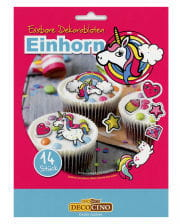 Edible decor wafers Unicorn 14 St.