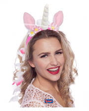 Unicorn hair with flowers