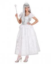Eiskönigin Kostüm weiß mit silber