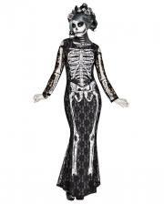 Elegant Lace Skeleton Costume