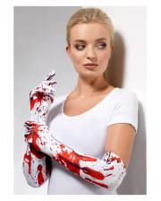 Elbow-length Blood-spatter Gloves