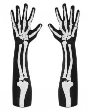 Ellbogenlange Skelett Handschuhe