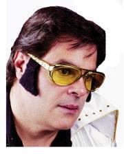 Rockn`n Roll Brille mit Koteletten