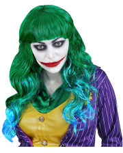 Evil Joker Ladies Wig