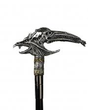Gehstock mit Fantasy Drachen Köpfen
