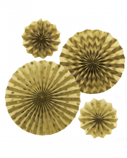Fan Decoration Set Gold