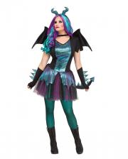 Fantasy Dragon Damenkostüm mit Flügeln