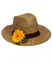 Farmers Hut mit Sonnenblume
