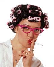 Hausfrauen Perücke mit Lockenwickler