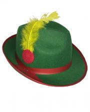 Karnevals Tiroler Hut mit Feder