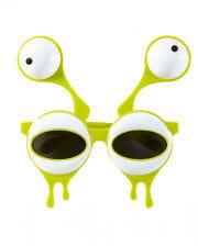 Faschingsbrille mit Alienaugen