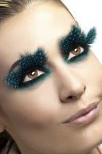 Dotted feather eyelashes