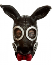 Fetish Bunny Gas Mask Black