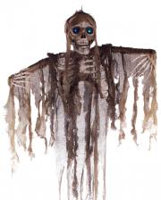 Fetzenskelett mit Leuchtaugen Hängefigur 160cm