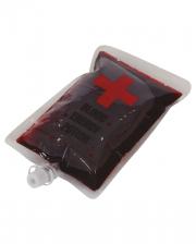 Filmblut im Transfusionsbeutel