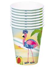 Flamingo paper cups 8 pieces