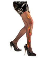 Flammen Strumpfhose Deluxe