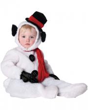 Flauschiger Schneemann Kinderkostüm Gr. M