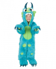Fluffy Monster Child Costume Turquoise