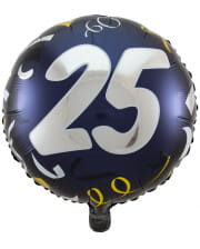 Folienballon 25 schwarz-gold 45cm