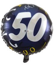 Foil Balloon 50 Black-gold 45cm