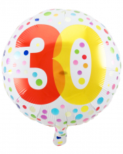 Foil Balloon Confetti 30th Birthday