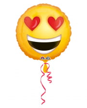 Foil Balloon Emoji Smiley In Love 43cm