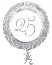 Folienballon 25.Geburtstag silber