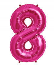 Folienballon Zahl 8 Pink