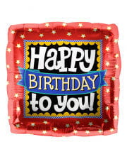 Folienballon Happy Birthday to you