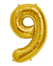 Foil Balloon number 9 Gold
