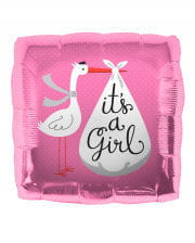Folienballon Storch - It´s a Girl -
