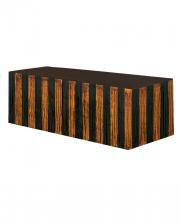Fringes Table Skirt Orange - Black Metallic