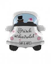 Freshly Married Car Foil Balloon