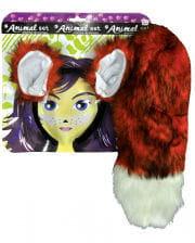 Fox costume accessories set