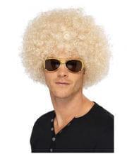 Funky Afro Perücke blond