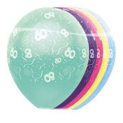 Birthday balloons 80th Anniversary 5 pcs