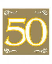Napkins 50 gold