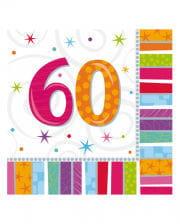 Birthday napkins number 60