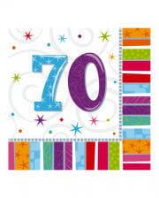 Birthday napkins number 70