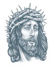 Prison Glue Tattoo Jesus