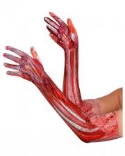 """""""Gehäutet"""" Halloween Handschuhe"""