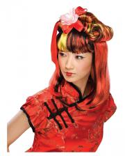 Dragon Lady Wig Black-red