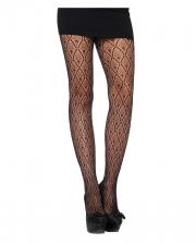 Patterned Lace Pantyhose Black