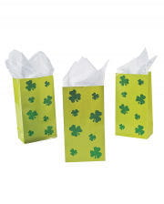 Gift bags with shamrocks