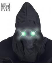 Faceless Maske mit Leuchtend Grünen Augen