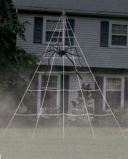 Giant Spider Web Outdoor Decoration 5x7 Meters