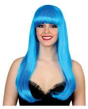 Glamour Diva Perücke Neonblau