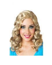 Glamour Lockenperücke Blond