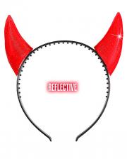 Glittering Devil Horns Hairband Red